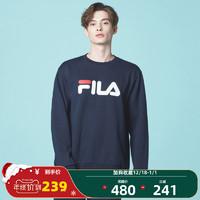 (韩国款)FILA斐乐套头卫衣2020秋季休闲运动针织卫衣男女同款 *4件