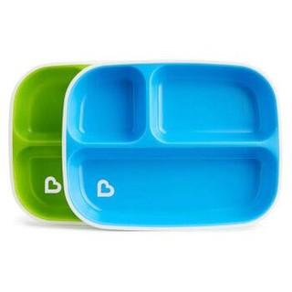 munchkin 满趣健 儿童分隔防溅盘2只装 蓝+绿 *4件 +凑单品
