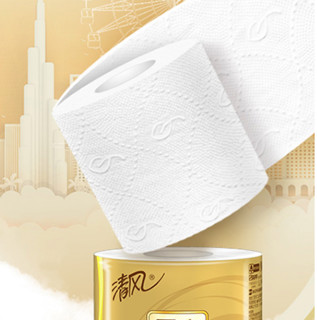 Breeze 清风 原木纯品金装系列 有芯卷纸