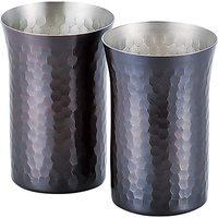 和平FREIZ 燕三条 匠人手作工艺 纯铜 杯子 260ml 2Pcs 镀锡 酒器 日本制 匠弥 TY-063