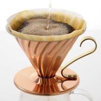 Prime会员:HARIO V60系列 VDP-02CP 铜制咖啡过滤器 1-4杯用