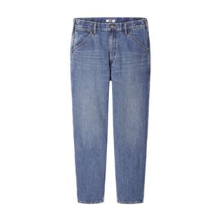 UNIQLO 优衣库 430607 男款宽腿窄口牛仔裤