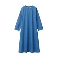MUJI 无印良品 女士纯棉宽松圆领长袖连衣裙BCL04A0S