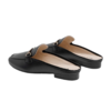 BeLLE 百丽 女士英伦风纯色包头方跟穆勒凉鞋鞋3EA32AH0 黑色37