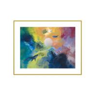 王唐糖《陪你度过漫长岁月》艺术版画装饰画 抽象梦幻壁画 50*40cm