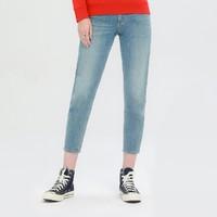 唯品尖货:Lee LWZ4134TC85W 女款高腰小直脚牛仔裤