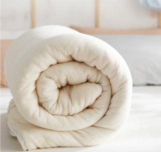 大朴(DAPU)被芯家纺 纯新疆棉花冬被被胎 7斤棉花被子被芯 包边款 双人1.5/1.8米床 200*230cm