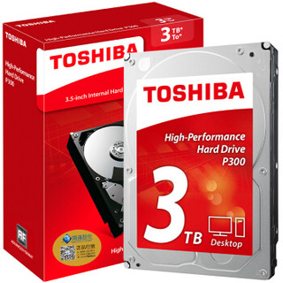TOSHIBA 东芝 P300系列 7200RPM 64MB 机械硬盘 3TB