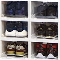 12日6点:Citylong 禧天龙 前开盖收纳鞋柜 6个装 33.5*27.5*19cm 白色