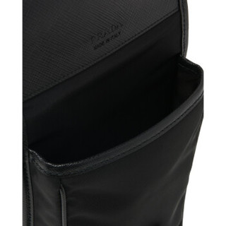 普拉达PRADA 男士黑色牛皮革尼龙和Saffiano 皮革手机包 2ZH109-2BBD-F0002