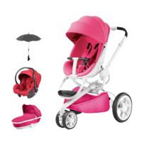 Quinny 酷尼 Moodd系列 婴儿推车+睡篮+提篮 粉色