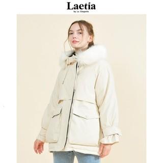 La Chapelle 拉夏贝尔 903610134 女款大毛领纯色棉服