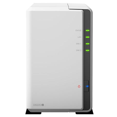 群晖(Synology)DS220j 两盘位 NAS网络存储服务器 (无内置硬盘)