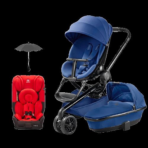 Quinny 酷尼 Moodd系列 婴儿推车推车 蓝色黑架+篮色+座椅