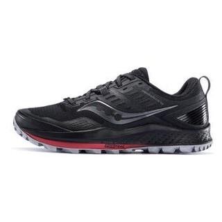 Saucony索康尼2020新品PEREGRINE游隼10缓震越野跑步鞋男鞋S20556 黑红-20 42