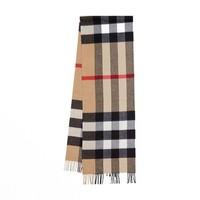 BURBERRY 博柏利 80181751 格纹羊绒围巾 典藏米色