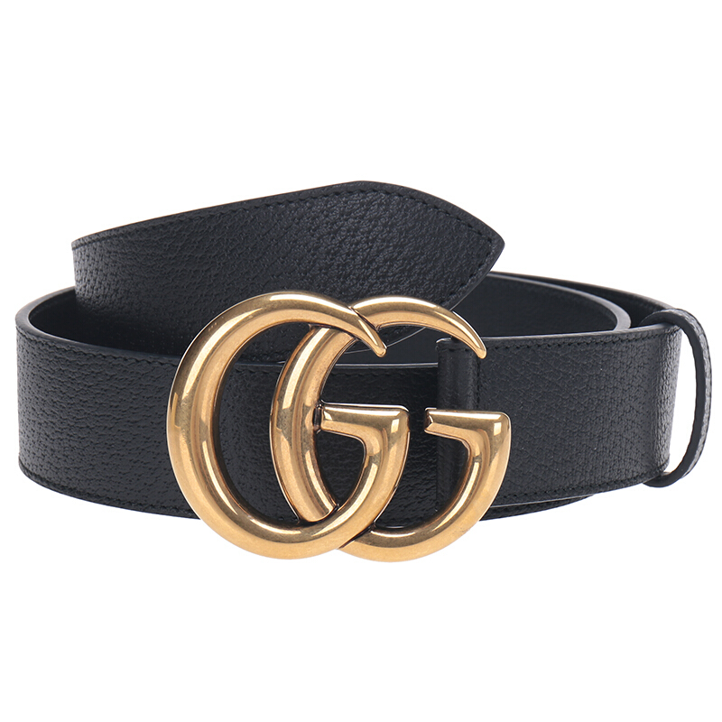GUCCI 古驰 GG Marmont系列 406831 DJ20T 1000 皮带 (黑色、105)