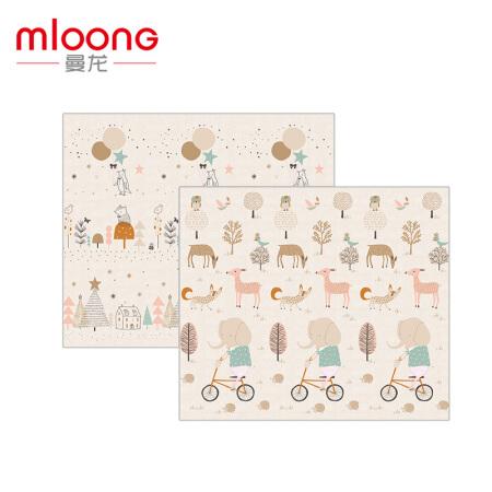 mloong 曼龙 xpe婴儿爬行垫子加厚宝宝爬爬垫整体环保婴游戏垫(森林大象+森林小鸟 180*150*2CM)六一儿童节礼物