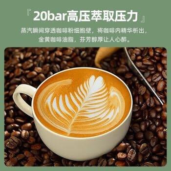 德国进口Derlla意式浓缩咖啡机半自动复古泵压式 家用打奶泡一体机 经典黑(20bar) *2件