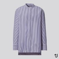 限尺码:UNIQLO 优衣库  +J 436693 女款立领条纹衬衫