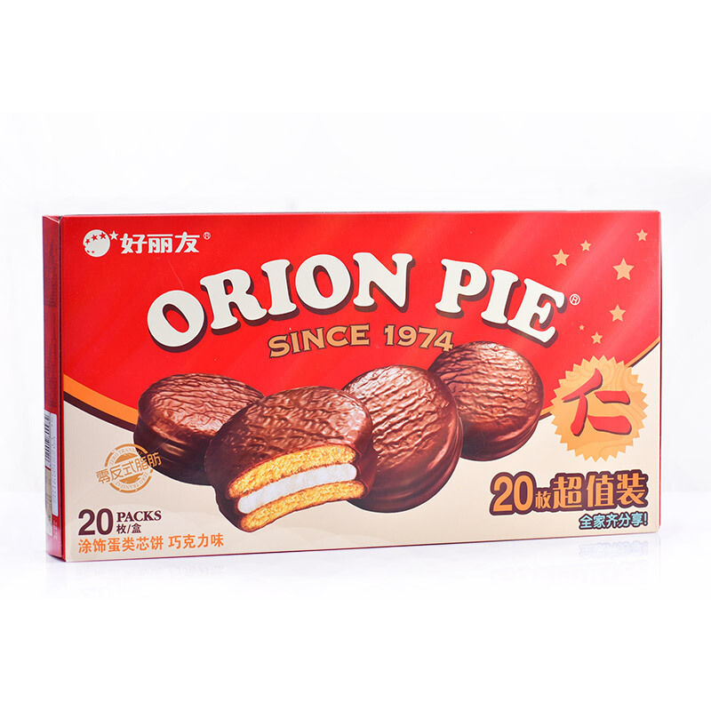 Orion 好丽友 营养早餐点心零食 巧克力派20枚 680g/盒 *4件
