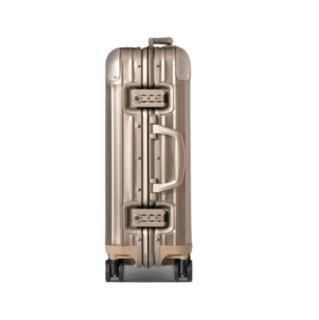 RIMOWA ORIGINAL系列双杆竖条纹铝镁合金TSA海关锁搭扣拉杆箱92552004 钛金色 20英寸