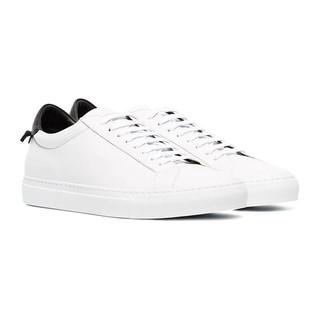 GIVENCHY 纪梵希 男士圆头系带低跟低帮哑光皮革休闲运动鞋BH0002H0FS 116 白色/黑色 42