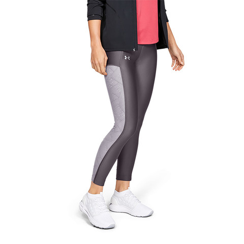 安德玛UA 女子轻薄透气跑步训练休闲运动紧身裤八分裤