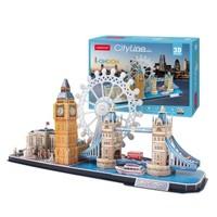 京东PLUS会员:CubicFun 乐立方 3D创意立体拼图 伦敦 *3件