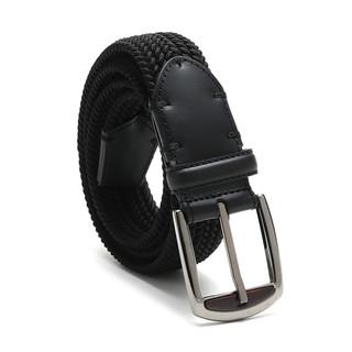 Ermenegildo Zegna 杰尼亚 2020春夏系列男士编织针扣式皮带 黑色 105