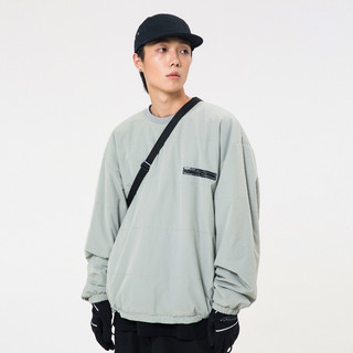 Roaringwild 咆哮野兽 AW19 QUILTED SWEATER 灰色绗缝夹棉卫衣 011920322
