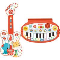 PLUS会员:Fisher-Price 费雪 婴幼儿入门弹奏玩具套装(吉他+琴)