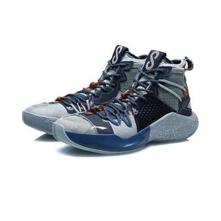 LI-NING 李宁 音速8系列 男子篮球鞋 ABAQ107-4 深普蓝/深蔚蓝/天青蓝 43