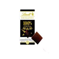 Lindt 瑞士莲 EXCELLENCE特醇 100%黑巧克力 50g 排块装