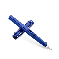 LAMY 凌美 Safari狩猎系列 钢笔 不锈钢 蓝色 EF尖