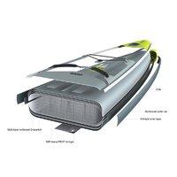 迪卡儂站立式槳板SUP競速板R500充氣板劃水板劃碳槳沖浪板ITIWIT