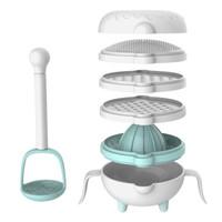 美帝亚(MIDDIA) 美帝亚婴儿辅食研磨器辅食工具研磨碗果泥手动榨汁器料理机11件套 *3件