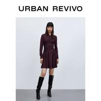 URBAN REVIVO WH36S7AN2000 女士长袖连衣裙
