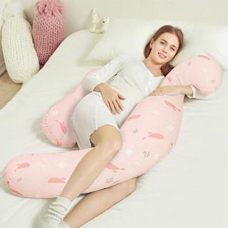 佳韵宝(Joyourbaby)孕妇枕头抱枕多功能护腰侧睡枕靠枕H型海马枕 鲸嬉海跃