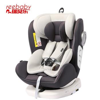 京东PLUS会员:瑞贝乐reebaby360度旋转汽车儿童安全座椅ISOFIX接口 可躺安全座椅 银河灰