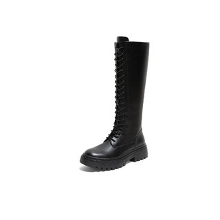 TEENMIX 天美意 Teenmix T38GX005DU1DG9 女士厚底长筒马丁靴