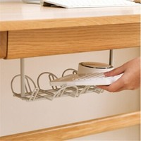 Neyankex 桌底电源线插排置物架 1个装