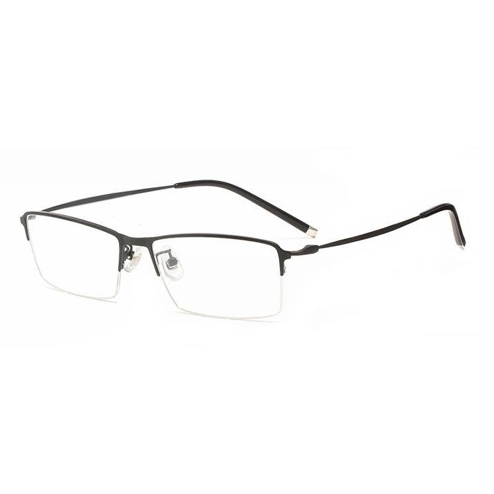 HAN 半框近视眼镜架4933+ 1.56非球面防蓝光镜片