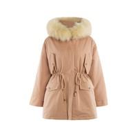 hotwind 热风 F015W9430510 女士毛领修身显瘦外套