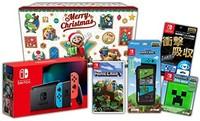 Nintendo 任天堂 假日礼品套装 《我的世界》+Switch游戏主机 红蓝+配饰套装+赠品