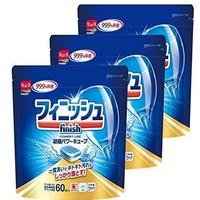 中亚Prime会员:finish 亮碟 洗碗机洗涤剂 袋洗 60个*3袋装  *3件