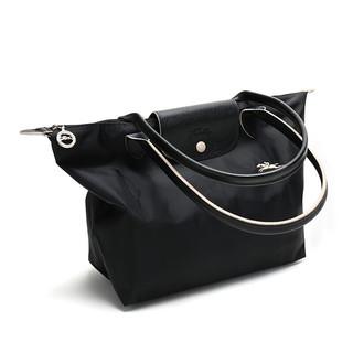 LONGCHAMP 珑骧 Le Pliage LGP系列 女士织物拉链单肩手提包2605 619  黑色1 小号