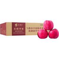京东PLUS会员: 庆塬红 红富士晚熟苹果 5斤简盒/75-80mm *2件