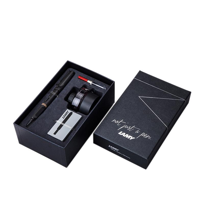 LAMY 凌美 Safari狩猎系列 50周年纪念款礼盒 钢笔 不锈钢笔尖 磨砂黑 F尖