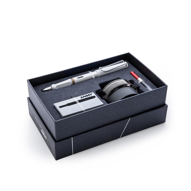 LAMY 凌美 Safari狩猎系列 50周年纪念款礼盒 钢笔 不锈钢笔尖 亮白色 EF尖